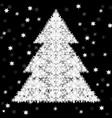 abstract christmas tree of snowflakes vector image vector image