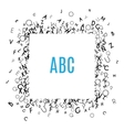 Alphabet Frame isolated on white background vector image vector image