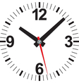 Analog clock icon vector image vector image