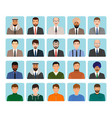 avatars characters set of different kind men vector image