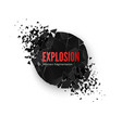 banner explosion simulation explode and vector image