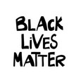black lives matter quote about human rights vector image vector image