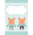 cartoon pig invite vector image