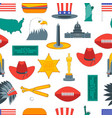 cartoon symbol of america background pattern vector image