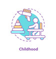 childhood concept icon vector image vector image