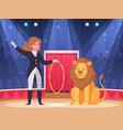 circus show background vector image vector image