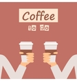 Coffee to Go Banner vector image vector image