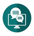 computer conversation communication bubble speech vector image vector image