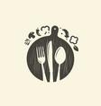 cooking logo culinary art cuisine symbol vector image vector image