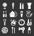 cosmetics icons set grey vector image