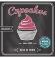 Cupcake chalkboard poster vector image vector image