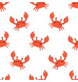 cute kids crabs pattern vector image vector image