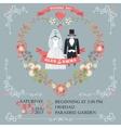 Cute wedding invitationRetro wear floral wreath vector image vector image