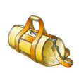 cylindrical sport luggage bag color vector image vector image