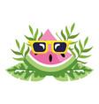 delicious fruit cartoon vector image vector image