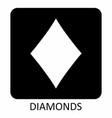 diamonds suit icon vector image
