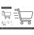 fast shopping line icon vector image vector image