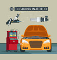 flat banner cleaning injector vector image vector image