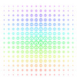 gauge icon halftone spectrum grid vector image vector image