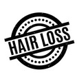 hair loss rubber stamp vector image