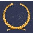 Hand drawn laurel wreathgrunge texture vector image vector image