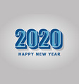 happy new year 2020 with retro style vector image vector image