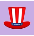 Hat with American flag image on white background vector image vector image