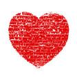 heart grunge brick vector image vector image