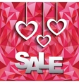 hearts hanging icons vector image vector image