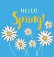 hello spring hello spring floral vector image vector image