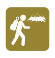 Hiking icon isolated sign symbol vector image