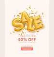 inscription sale made from gold foil balls and vector image vector image