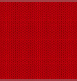 knitted seamless pattern red knit background vector image vector image