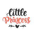little princess print for girl clothes vector image vector image