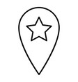 location pin with star thin line icon navigation vector image