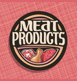 logo for meat vector image