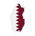 map qatar - flag vector image vector image