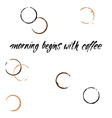 morning begins with coffee lettering print vector image