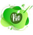 natural product vegan food sticker set vector image vector image