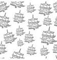 pagoda tower seamless vector image vector image