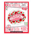passion lettering poster vector image vector image