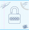 password protection and safety access line sketch vector image vector image