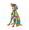 rainbow dog 5 vector image vector image