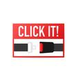 safety belt flat design vector image vector image