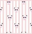 seamless pattern panda bear pattern on light blue vector image vector image