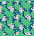 Seamless pattern with cute koala bears on