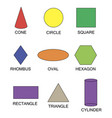 set geometric shapes suitable for educational vector image