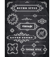 Set of Retro Vintage Badges Frames Labels and vector image