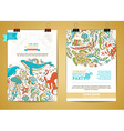 set of two marine life poster templates vector image vector image