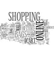 shopping word cloud concept vector image vector image